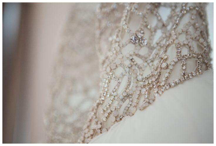Beaded wedding dress, photo by New Vintage Media