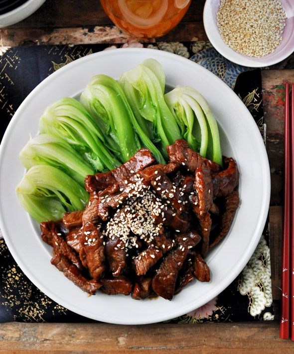 Asian Inspired Savoury & Sticky Barbeque (Barbecue) Beef - it is almost effortless and looks like Chinese restaurant quality #stirfry #recipes #asianrecipes