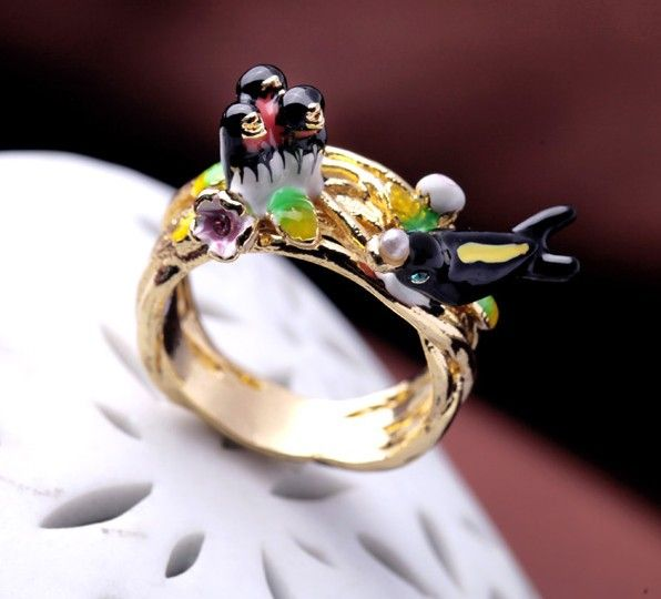 Swallow Statement Ring