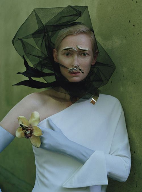 """Stranger than Paradise"" | Tilda Swinton shot by Tim Walker for W Magazine May 2013 #editorial"