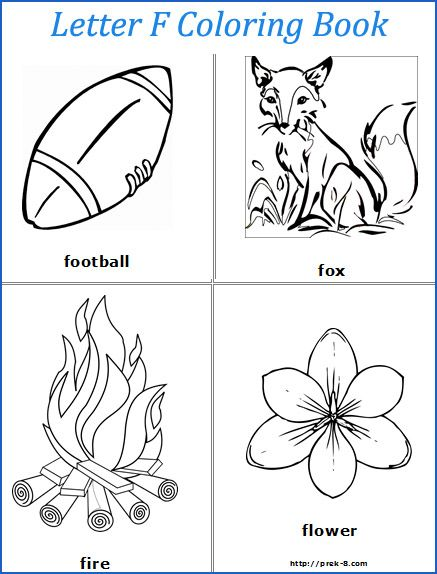 Preschool lesson plans printouts that could be useful for for Letter f coloring pages for preschoolers