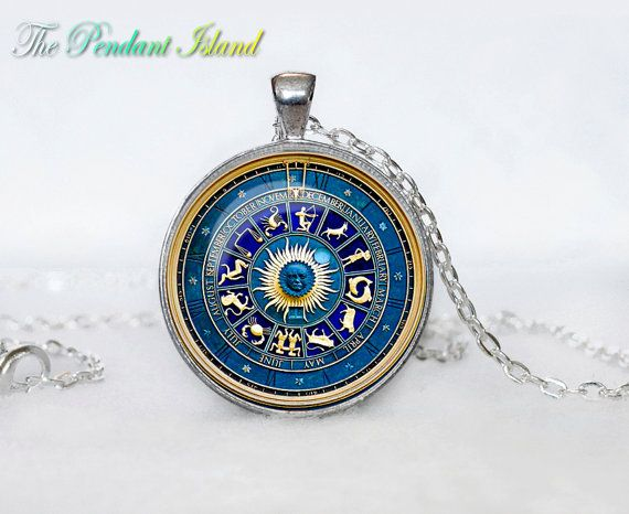 Zodiac circle Necklace Zodiac circle Pendant by ThePendantIsland, $13.50