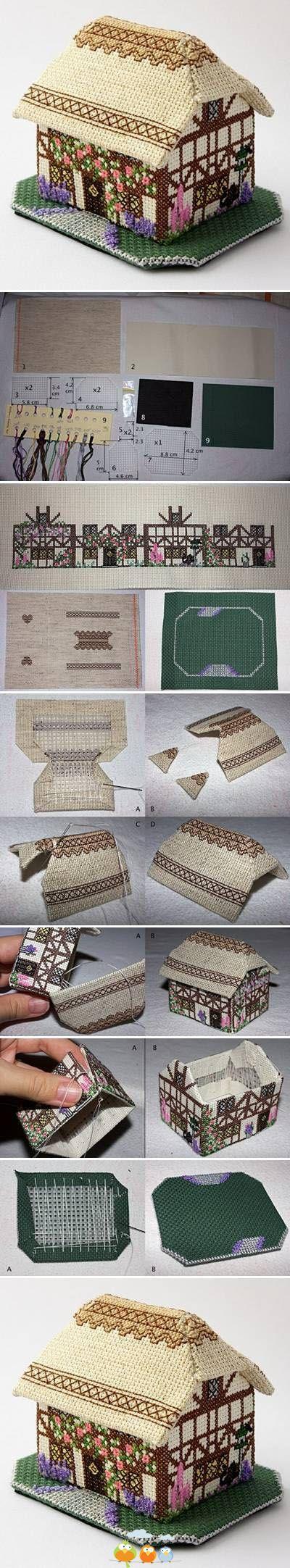 needlework 3-D house PRECIOSIDAD