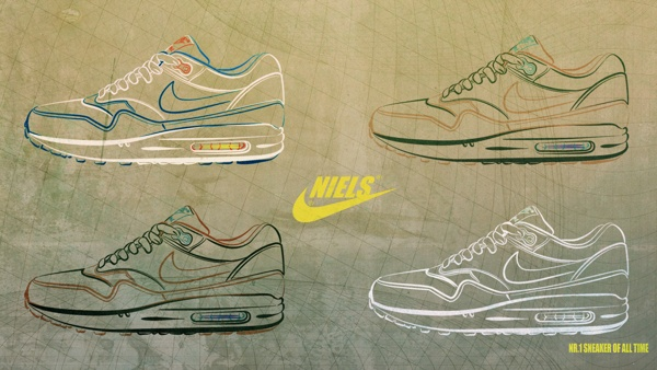 Designs of the Nike airmax1 made for my Behance portfolio.