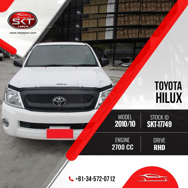 #Car #Stock For #Sale!   View #ToyotaHilux 2010 Specification: https://www.sktjapan.com/details/?stid=SKT-17749  #SKTJapan #UsedCars #Japaneses #Vehicle #Cars #AmazingCar #White #Truck #Pickup #BestValueCar #CarForSale #Transportation #RightHandDrive #QualityCars #Offer #Contact