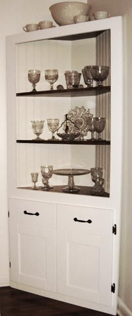 13 best images about DIY Corner Cabinet on Pinterest