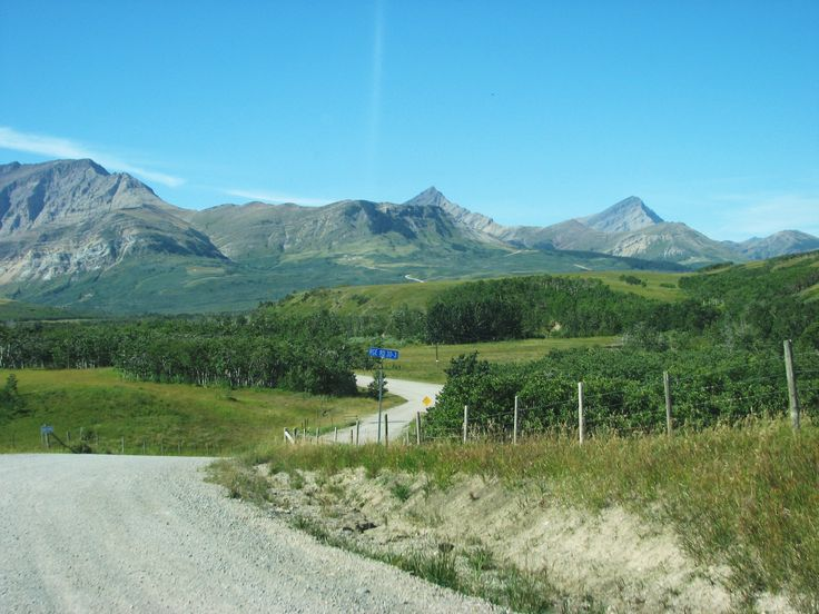 Range road outside Waterton Lakes National Park, Alberta. ~~ 9/11/2009