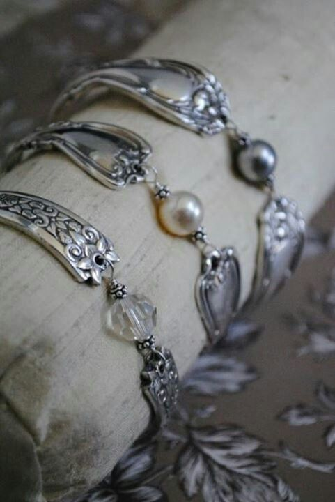 Spoon bracelets - I'd like one with peridot made from my baby spoon