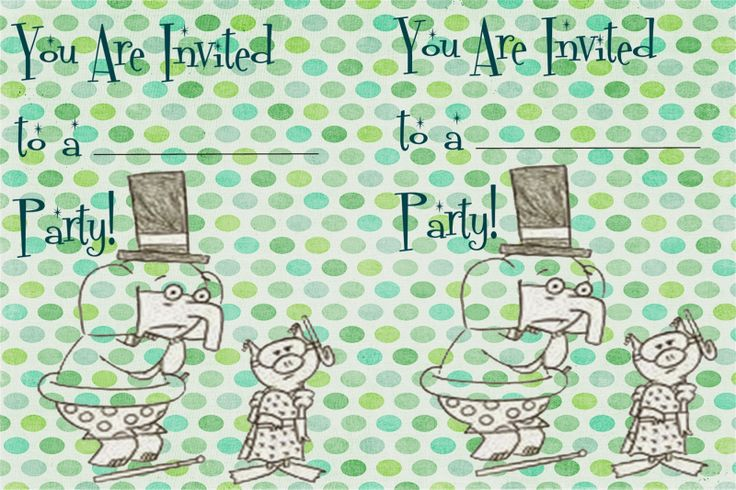 Elephant & Piggie: I Am Invited to a Party extension activity.