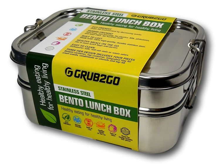 GRUB2GO Stainless Steel Lunch Container