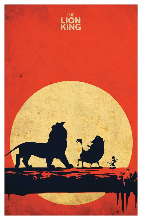 "The Lion King minimalistic poster 11""x17"" on Etsy, $18.04 CAD"