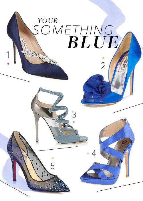 The perfect wedding shoes for your something blue!   Brides.com