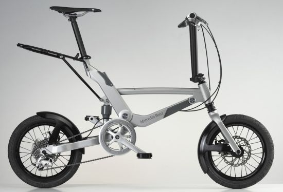 Mercedes Folding Bike makes your way through busy city roads