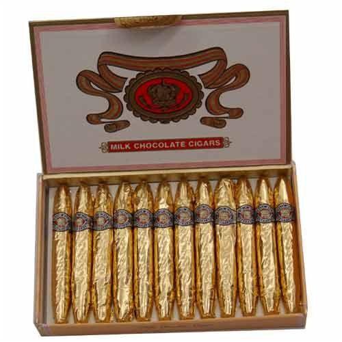 Madelaine - Milk Chocolate Cigars, Box of 24 - http://bestchocolateshop.com/madelaine-milk-chocolate-cigars-box-of-24/