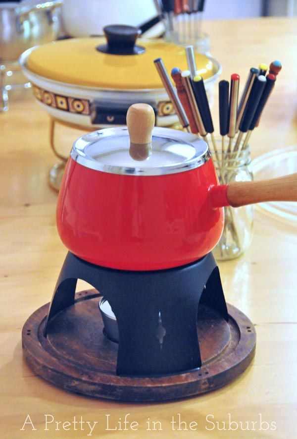 Fondue Party  //  Full fondue menu:  cheese, meat & seafood, chocolate, with dips, sauces and dipper ideas!