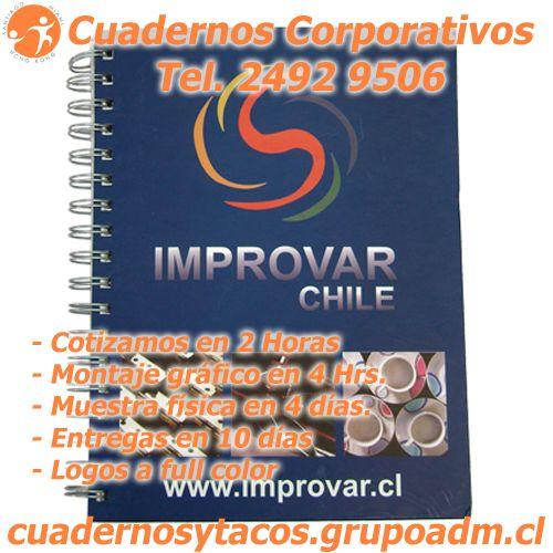 Cuadernos Corporativos Personalizados, con cotizaciones en 2 hrs