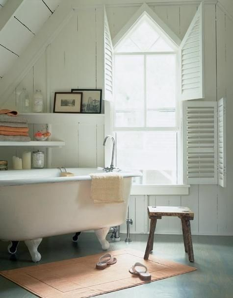 Bathroom Window Treatments Over Tub Farmhouse