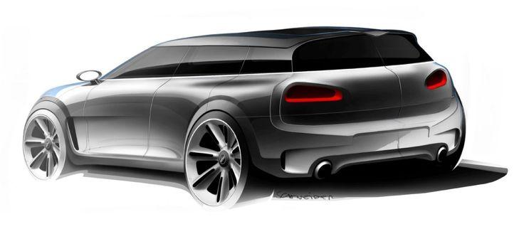 2014 | Mini Clubman Concept | Design Development: Exterior Sketches | Design by Alexander Schneider | Source: CDN