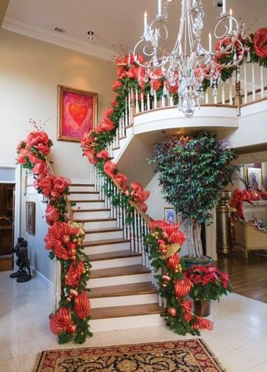 285 Best Images About Christmas Staircases Amp Stairs