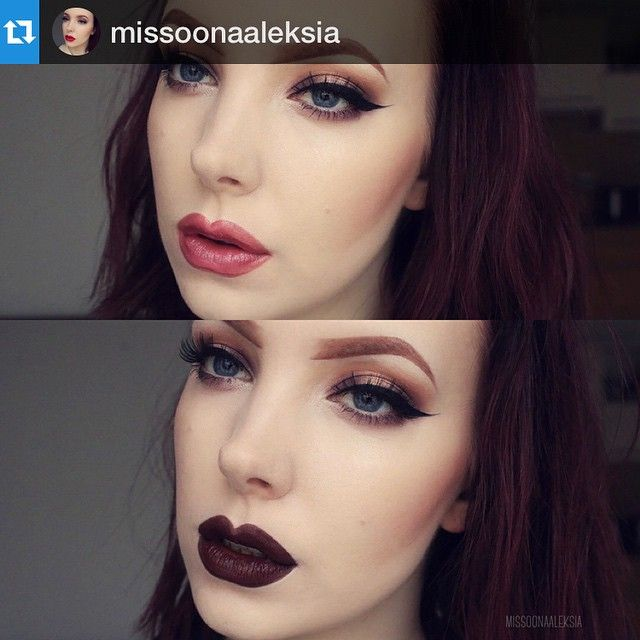 """#Repost @missoonaaleksia with @repostapp. ・・・ One look, two lippies. I just published a post """"MOTD and La Splash Cosmetics"""" on my blog! There are swatches and a short review. Link in bio  #motd #fotd #makeup #inglot #morphebrushes #anastasiabeverlyhills #toofaced #sleekmakeup #makeupstore #maccosmetics Lashes: #redcherrylashes 73 : ⬆️ #lumene lip pencil in Neutral Moment with #shiseido lipstick in RS711 ⬇️: #lasplashcosmetics Smitten Liptint in Spellbound Web Instagram User » Collecto"""