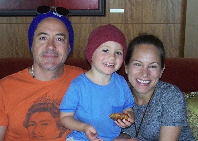 Robert Downey Jr. son Exton and wife Susan Downey