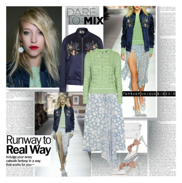 Dare to Mix by stylepersonal on Polyvore featuring polyvore, Topshop Unique, Topshop, fashion, style, clothing, topshop, runwaytrend and spring2016