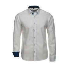 Koszula w kolorze białym z granatową koordynacją
