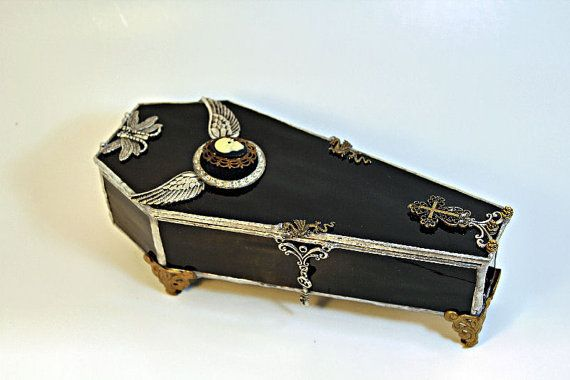 Vampire Coffin Jewelry Box - Black Gothic Steampunk. $150.00, via Etsy.  The perfect box for Steampunk jewelry!