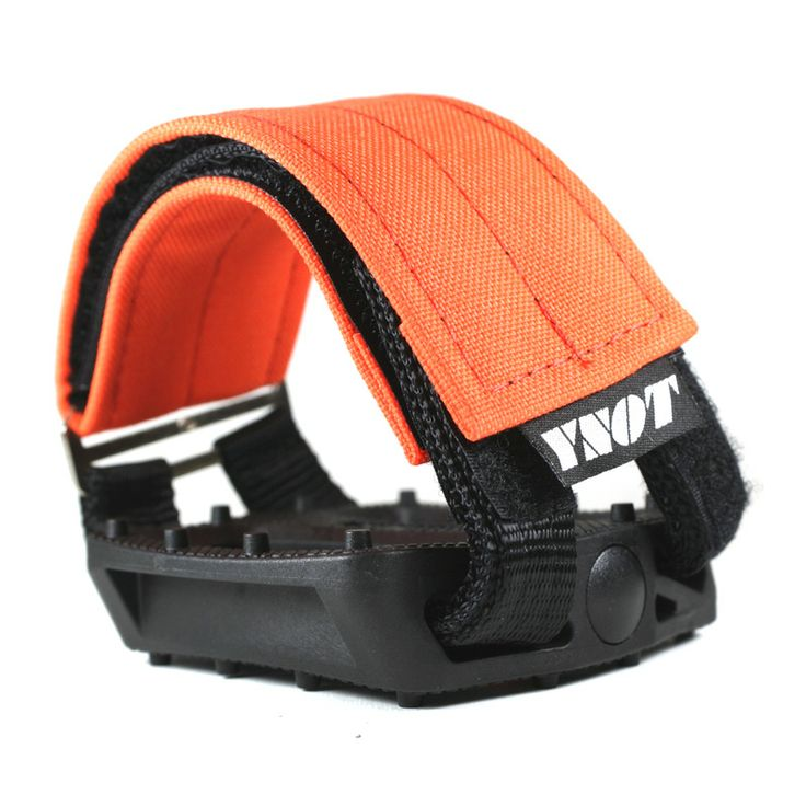 YNOT Cycle | Pedal Straps - Blaze Orange Fluorescent