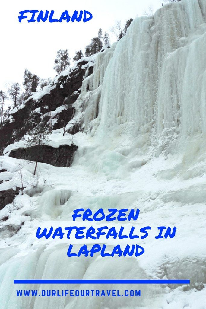 Korouoma Canyon and hike to the Frozen Waterfalls in Lapland. Day trip from Rovaniemi Finland to the Korouoma Nature Reserve #finland #lapland #korouoma #daytrip #rovaniemi