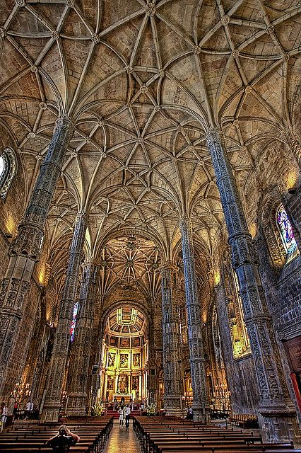 Carved Columns and endless Vaulting at Mosteiro do Jeronimos