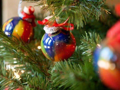 Creating colorful ornaments for the Christmas tree is a ...