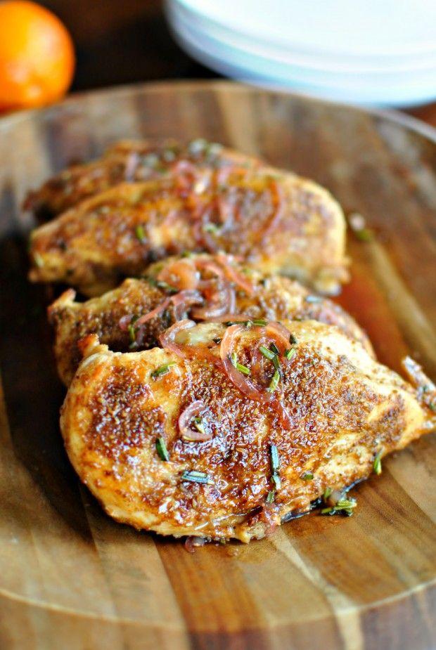 Spice Crusted Chicken + Blood Orange and Maple Glaze l www.simplyscratch.com | #chicken #maple #recipe