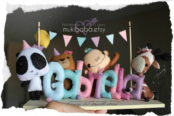 PARTY CENTER PIECE  Baby's birthday party decor  First by mukibaba, $70.00