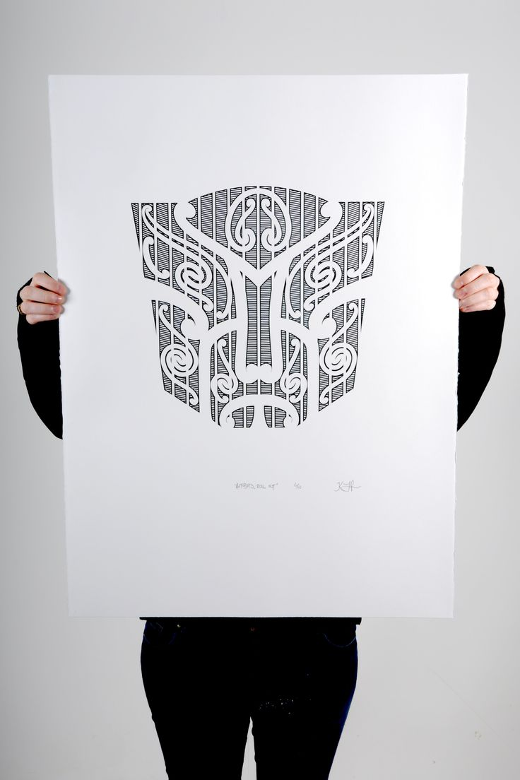 """Autobots, roll out!"" Black screen print on 100% cotton 300gsm Pescia paper Paper size 56x76cm Edition of 10 and 1 artist proof"