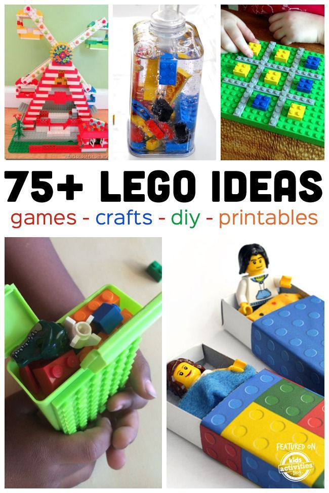 TONS of lego activities and games that you can make and play with your kids.