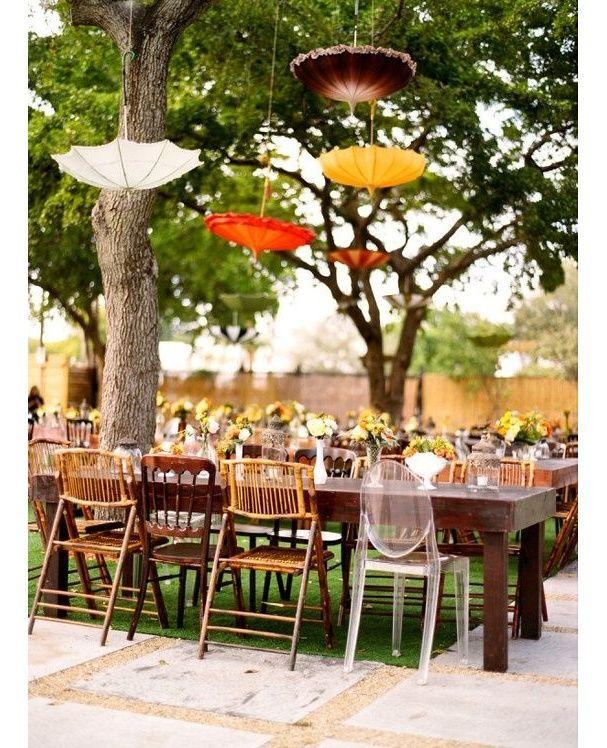 Détourner des parapluies qui deviennent des suspensions jardin mariage pinterest déco