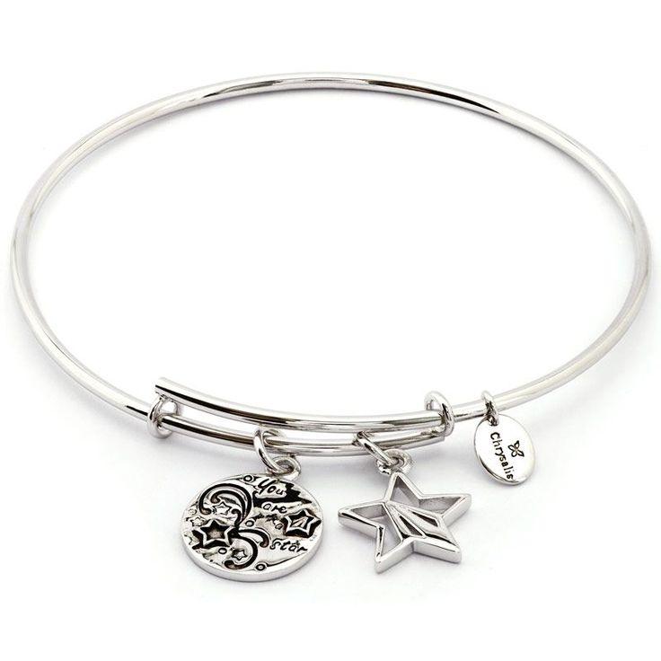 Chrysalis expandable bangle from the Thinking of You Collection #Chrysalis #Bangle #Silver #Chrysalisbangle