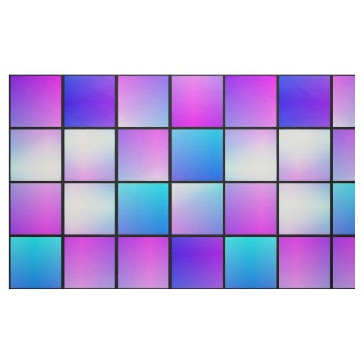 Gradient squares pattern fabric