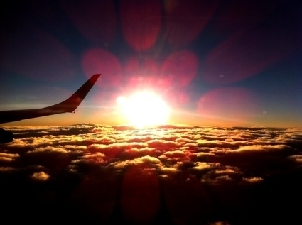 views from airplane windows
