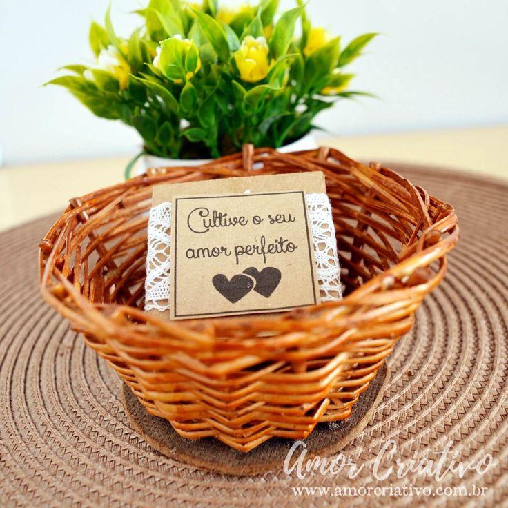 Mini Cacto do Amor - Amor Criativo. Lembrancinhas de casamento. Lembrancinhas de casamento rustico. Lembrancinhas criativas.