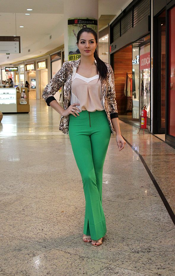 look calça verde - Pesquisa Google
