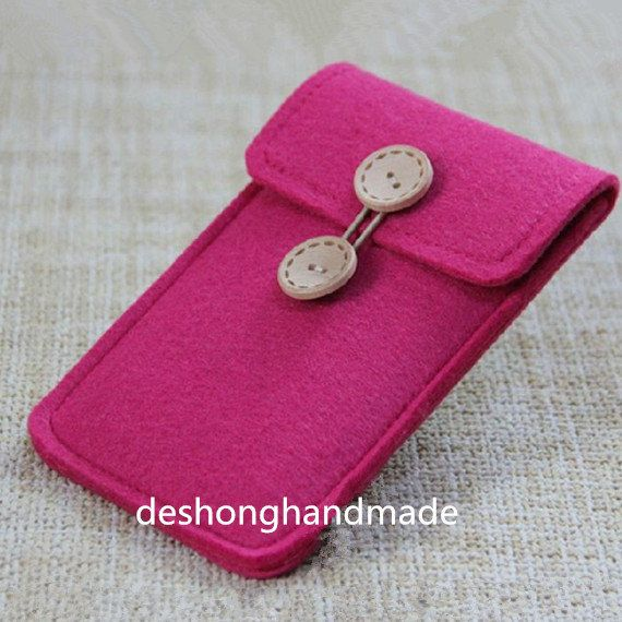 iphone 5/5 s/5c felt caseSleeve iPhone 5 Wallet di deshonghandmade