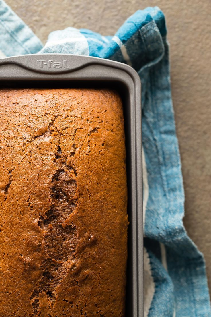 This traditional old fashioned style gingerbread loaf cake is what makes the holidays for me. As soon as I smell that spicy ginger aroma in the kitchen, it triggers lots of memories from my childhood.