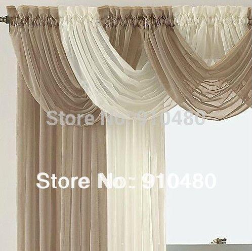 Belle sheer rideau valance cascade swag cantonnière fenêtre cantonnière fenêtre traitement W 60 cm * H 50 cm livraison gratuite