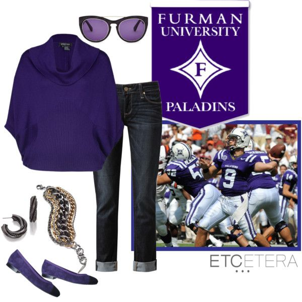 """""""FURMAN Gameday!"""" by etcetera-nyc on Polyvore"""