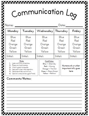 Communication Log! must recreate this!