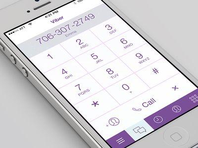 Viber iOS7 Keypad