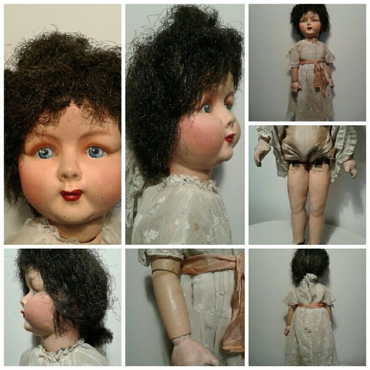 Bambola antica Ge' Ge' francese marciante occhi dipinti 1925 antique doll