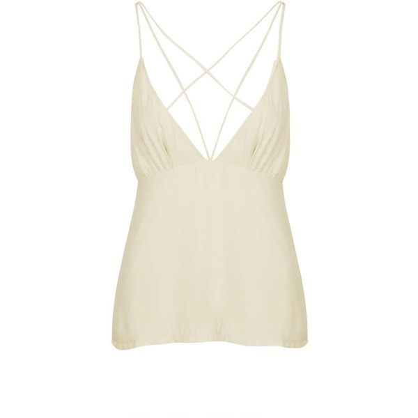 Total Recall Cream Cami Top by Wyldr (£29) ❤ liked on Polyvore featuring tops, cream, white cami, cream tank top, cami top, white tank tops and white tops